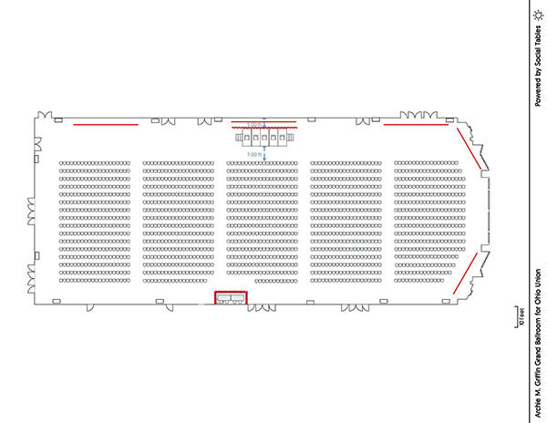 Archie M. Griffin Grand Ballroom - Theater Diagram