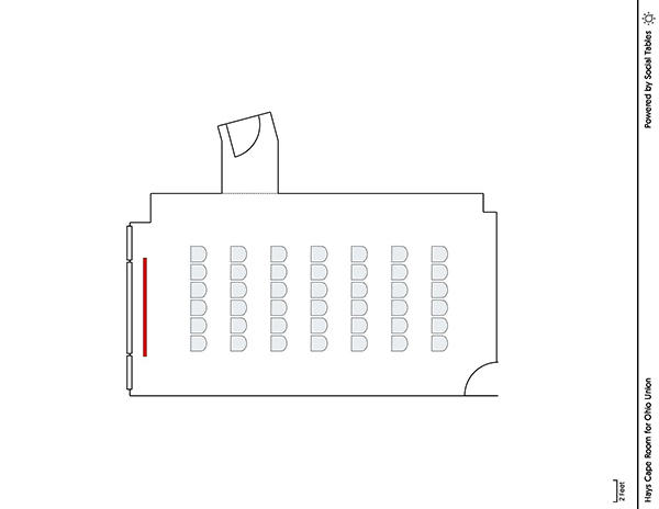 Hays Cape Room - Theater Diagram