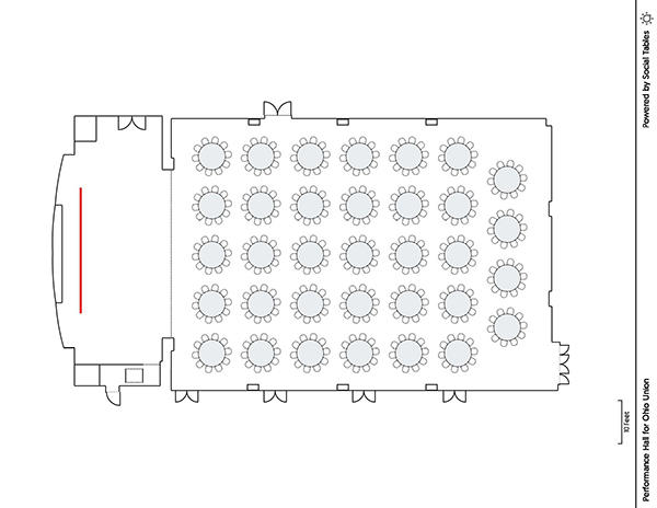 Performance Hall - Banquet Diagram
