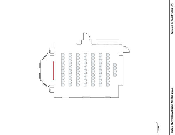 Student Alumni Council Room - Theater Diagram